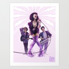 Trudie and the Beats Art Print