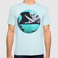 Arrgghhh Mens Fitted Tee Light Blue SMALL