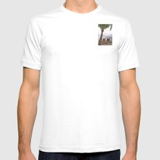 When the Time Stood Still White SMALL Mens Fitted Tee