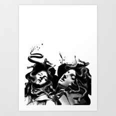 Beating Medusa Art Print