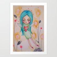 Garden Fairy Art Print
