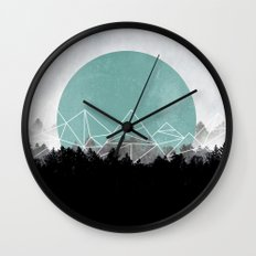 Woods Abstract 2 Wall Clock