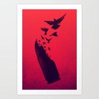 Bullet Birds Art Print