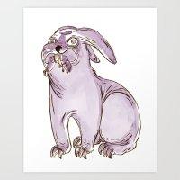Monster Rabbit Art Print