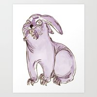 Monster Rabbit Art Print