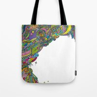 Night sky to look from the cave Tote Bag