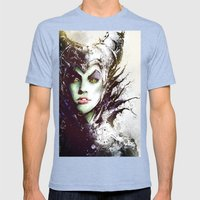 Maleficent Mens Fitted Tee Tri-Blue SMALL