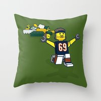 Bears Bricked: Jared All… Throw Pillow