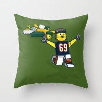 Bears Bricked: Jared Allen Throw Pillow