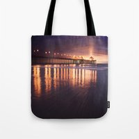 Huntington Beach Sunset Tote Bag