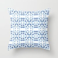 Mirror Dye Blue Throw Pillow