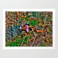 'Hippie Garden' Art Print