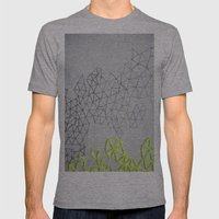 Neon Geometric Mens Fitted Tee Athletic Grey SMALL