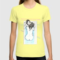 Bath Time Womens Fitted Tee Lemon SMALL