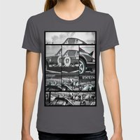 Historic Car Womens Fitted Tee Asphalt SMALL