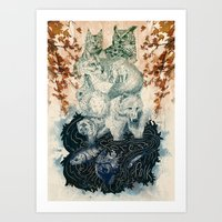 The Forest Folk Art Print