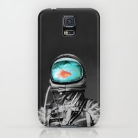 Galaxy S5 Cases featuring Underwater astronaut by Budi Kwan