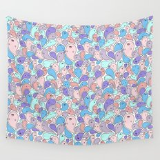 Happy Drops Doodle Wall Tapestry