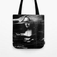 Mona Lisa Glitch Tote Bag