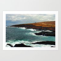 Lighthouse In Newfoundla… Art Print
