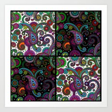 Paisley Panels Art Print