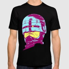 Robocop (neon) Mens Fitted Tee SMALL Black
