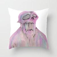 The SlimeMan Throw Pillow