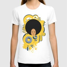 Love the 'Fro Womens Fitted Tee White SMALL