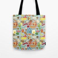 LIFE IS FOOD Tote Bag