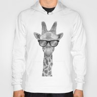 Hipster Giraffe Hoody