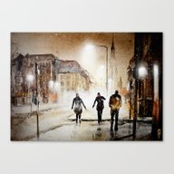 Britain's Cold Night In … Canvas Print