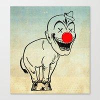 elephant clown 02 Canvas Print