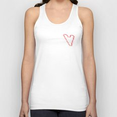 Candy Cane Love Unisex Tank Top