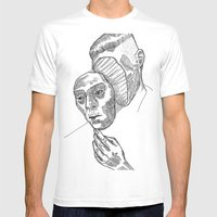 Mask 01 Mens Fitted Tee White SMALL