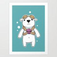 Polar Pilot Art Print