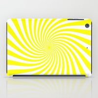 Swirl (Yellow/White) iPad Case