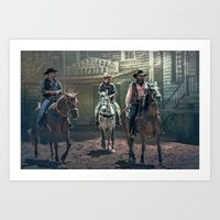 They Came One Night Art Print