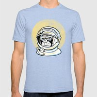 Space Ape Mens Fitted Tee Tri-Blue SMALL