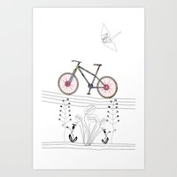 Photo Bicycle Art Print