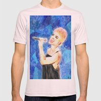 Singing Mens Fitted Tee Light Pink SMALL