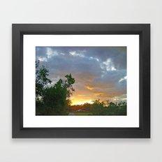 A Sunrise In Kentucky Framed Art Print
