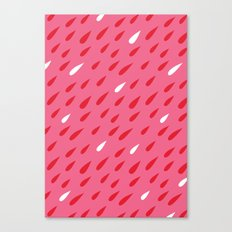 Red + Pink Droplets Canvas Print