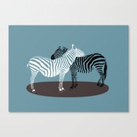 Zebra Embrace Canvas Print