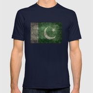 The National Flag Of Pak… Mens Fitted Tee Navy SMALL