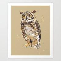 Great Horned Owl - Gertrude Art Print