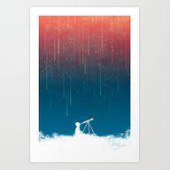 Meteor Rain (light Versi… Art Print