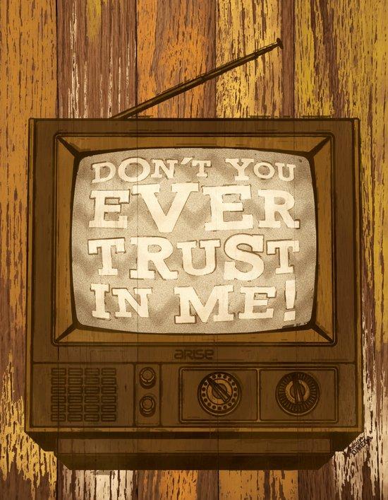 don't trust (yellow variant) Art Print