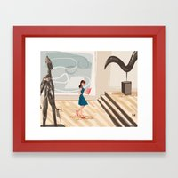 Pretty Girl At The Art M… Framed Art Print