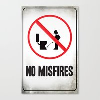 Misfire Canvas Print