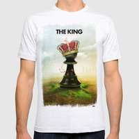 The King Mens Fitted Tee Ash Grey SMALL